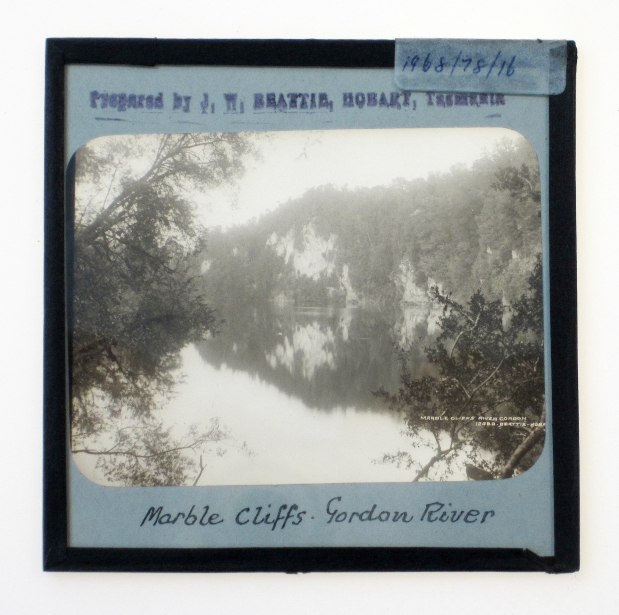 John Watt Beattie - Marble Cliffs, Gordon River, c1899