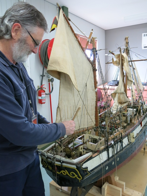 Jim Carroll_Cleaning The Fox ship model#2_July2014