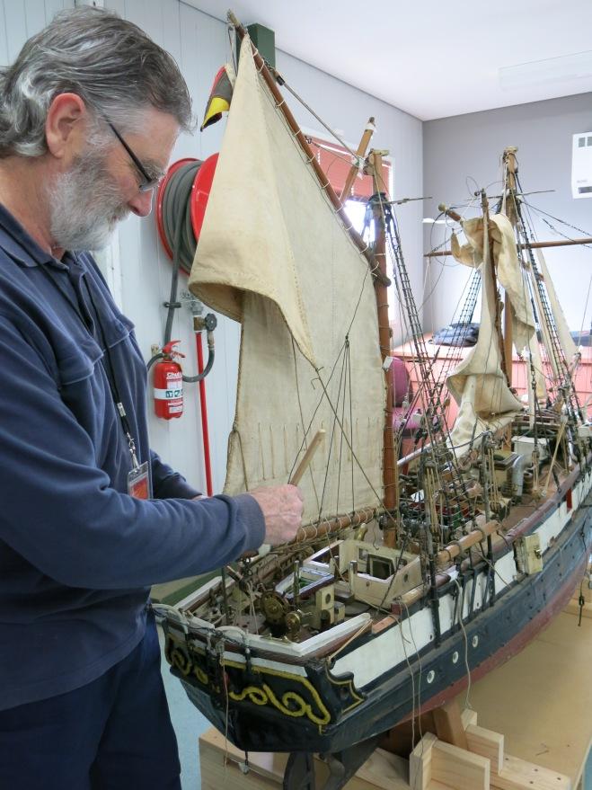 Jim Carroll_Cleaning The Fox ship model#2_July2014
