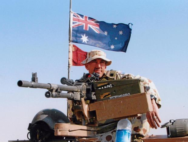 Captain Cassidy  on duty in Iraq  Photo courtesy Major Cassidy.